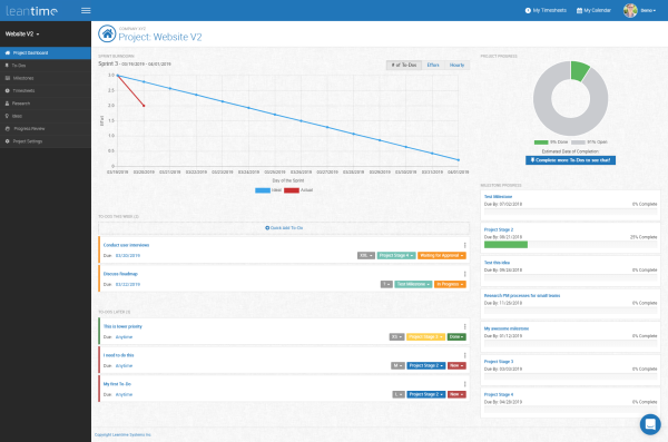 Leantime open source project management tool
